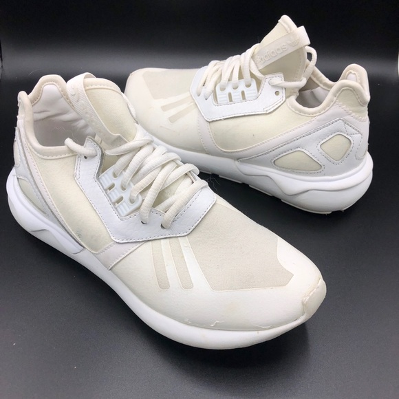 sports shoes b0a51 412aa Adidas Tubular Runner White on White Sneakers 6